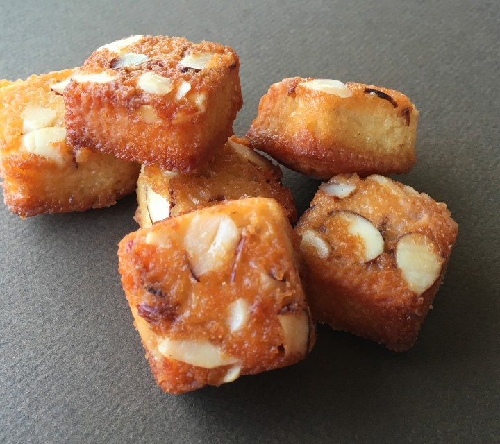 Real Almond Cake Bites